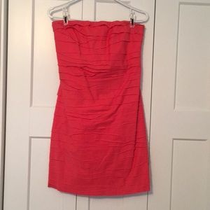 Strapless Coral J crew dress
